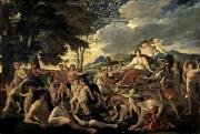 Poussin Posters - The Triumph of Flora Poster by Nicolas Poussin