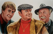 Faces Drawings - The Trotters by Andrew Read
