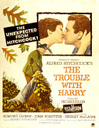 1950s Poster Art Photo Framed Prints - The Trouble With Harry, Shirley Framed Print by Everett