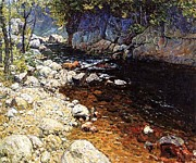 Trout Paintings - The Trout Brook by Pg Reproductions