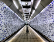 Metro Photo Metal Prints - The Tube Metal Print by Evelina Kremsdorf