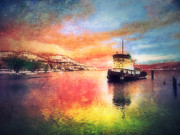 Tug Prints - The Tug Boat at Dawn Print by Tara Turner