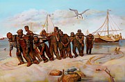 Crabs Paintings - The Tugmen  by Curtis James