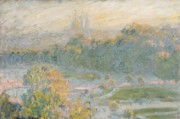 Sketch Paintings - The Tuileries by Claude Monet