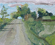 Gravel Road Paintings - The Tunnel In The Trees by Francois Fournier