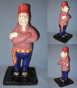 Small Statue Ceramics - The Turk by Bob Dann