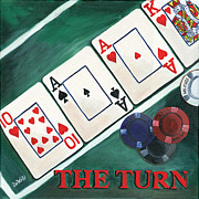 Playing Cards Painting Framed Prints - The Turn Framed Print by Debbie DeWitt