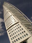 Malmo Prints - The Turning Torso Residential Building Print by Kent Kobersteen