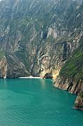 League Metal Prints - The turquoise water at Slieve League sea cliffs Donegal Ireland  Metal Print by Pierre Leclerc