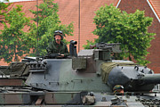 Copy Machine Photography - The Turret Of The Leopard 1a5 Main by Luc De Jaeger