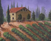 Villa Paintings - The Tuscanesque Villa by Kent Nicklin