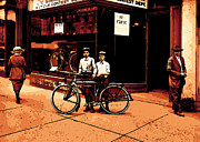 Bicycle Mixed Media Posters - The two boys Poster by Stefan Kuhn
