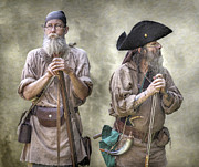 Frontier Art Prints - The Two Frontiersmen  Print by Randy Steele