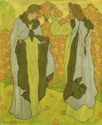 Graphic Painting Posters - The Two Graces Poster by Paul Ranson