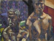 Nude Couple Pastels - The two Kyles by Jeffrey Morin
