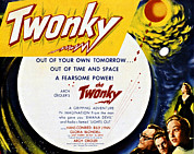 Lobbycard Prints - The Twonky, From Left Norman Field Print by Everett