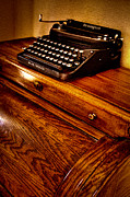 Remington Metal Prints - The Typewriter Metal Print by David Patterson