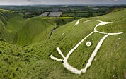 Luminescence Posters - The Uffington Bronze Age White Horse Poster by Paul D Stewart