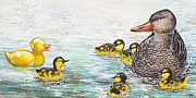 Duckie Prints - The Ugly Duckling Print by Beth Davies