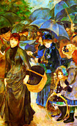 Sisters Metal Prints - The Umbrellas by Renoir Metal Print by Pg Reproductions