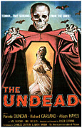 1950s Poster Art Framed Prints - The Undead, Pamela Duncan, 1957 Framed Print by Everett
