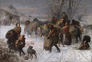 Horse And Cart Paintings - The Underground Railroad by Charles T Webber