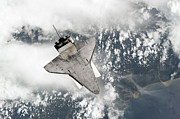 Space Travel Art - The Underside Of Space Shuttle by Stocktrek Images