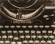 Underwood Typewriter Framed Prints - The Underwood Framed Print by Lisa Russo