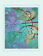 Fractal Pastels Posters - The Unfolding of Our Lives Poster by Gayle Odsather