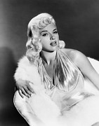 Fur Stole Prints - The Unholy Wife, Diana Dors, 1957 Print by Everett