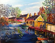 Scottish Art Originals - The Union canal by Colm OBrien