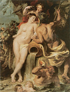 Rubens Painting Prints - The Union of Earth and Water Print by Sir Peter Paul Rubens