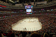 Nhl Prints - The United Center - Chicago Print by Steve Sturgill