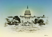United States Capital Posters - The United States Capital Building Poster by Bill Cannon