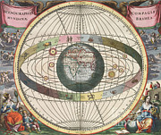 Harmonia Macrocosmica Posters - The Universe Of Brahe, Harmonia Poster by Science Source