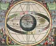 Harmonia Macrocosmica Posters - The Universe Of Ptolemy, Harmonia Poster by Science Source
