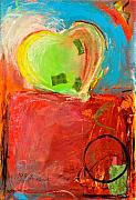 Surprise Mixed Media Posters - The Unrestricted Heart 5 Poster by Johane Amirault
