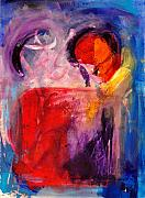 Abstract Heart Paintings - The Unrestricted Heart by Johane Amirault