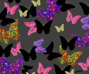Wings Artwork Mixed Media Prints - The Unseen Butterflies Print by Alan Hogan