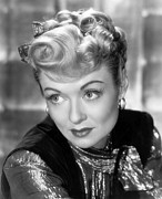 Gold Lame Prints - The Unsuspected, Constance Bennett, 1947 Print by Everett