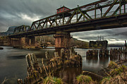 Thunder Photo Framed Prints - The Unswing Bridge Framed Print by Jakub Sisak