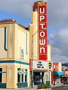 Wine Country. Framed Prints - The Uptown Theater in Napa California Wine Country . 7D8927 Framed Print by Wingsdomain Art and Photography