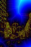 The Urban Network Print by Angel Jesus De la Fuente