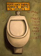 Flush Prints - The Urinal Print by Leah Saulnier The Painting Maniac