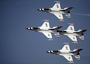 Demonstration Posters - The U.s. Air Force Thunderbird Poster by Stocktrek Images