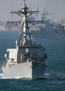 Frigate Posters - The U.s. Guided Missile Destroyer Uss Poster by Stocktrek Images