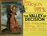 Fod Acrylic Prints - The Valley Of Decision, Gregory Peck Acrylic Print by Everett