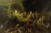 Crowd Painting Prints - The Valley of Tears Print by Gustave Dore
