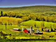 Barns Digital Art - The Valley by William Jones