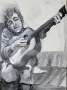 Bob Dylan Painting Originals - The Values of Dylan by Jeffrey Carnal